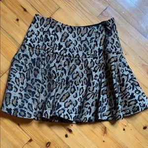 Free People size 8 leopard print mini skirt
